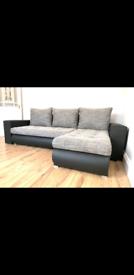 BRAND NEW STUNNING CORNER SOFA BED WITH STORAGE CALL NOW 07306109900