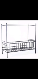 Twin/single metal daybed with canopy