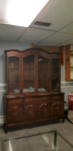Table 6 chairs and China cabinet
