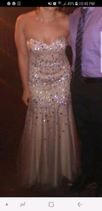 Champagne prom gown