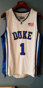Kyrie Irving College Duke Jersey White Size Small