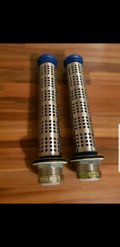 2 New commercial sink plugs with strainer kit