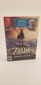 Zelda Breath of the Wild Explorer EDITION Switch Comme neuf