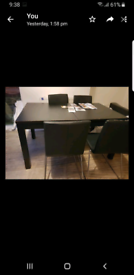 EXTANDABLE TABLE AND TWO CHAIRS