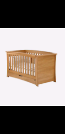 Mamas and Papas Ocean Solid Oak Cotbed