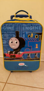 Thomas the train kid size luggage with rolling wheels