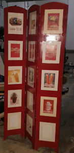 Room divider with photo frames