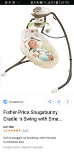 Fisher price baby bunny swing