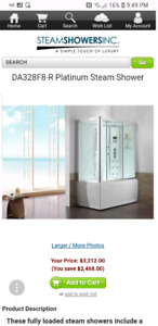Steam Shower whirlpool bathtub
