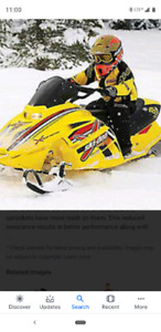 Skidoo rev 120 kids sled