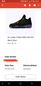 "(SWAP) Air Jordan 4  Retro ""Raptors"" NRG - Size 14 DEADSTOCK!!"