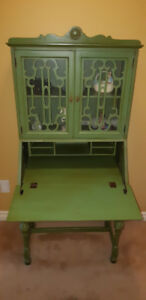 VINTAGE SECRETARY DESK HUTCH