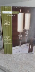 Set of 2 Brand New Crystal Candle Holders