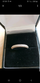 Eternal sparkly ring ring size m