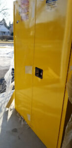 YELLOW FLAMMABLE CABINET FOR SALE (BRAND NEW)
