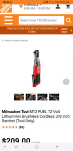 """Brand New Milwaukee M12 Fuel 3/8"""" Ratchet Tool Only"""