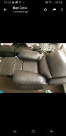 Recliner armchair and 3 seater