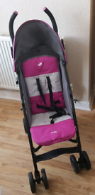 Joie Nitro Stroller, Anthracite Pink with Rain Cover