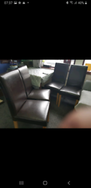 6 Leather Chairs