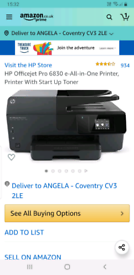Hp Officejet Printer Pro 6830