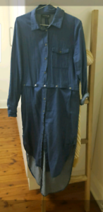 Denim long sleeve dress/top size medium from the fifth label