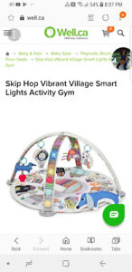 Play mat and activity gym: Skip Hop Vibrant Village with Lights