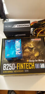 Combo for cryptocurrency mining! G4400 + B250 Fintech + 1300WPSU