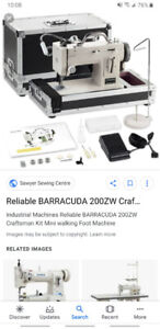 Barracuda walking foot machine.New! Use for Sail/leather