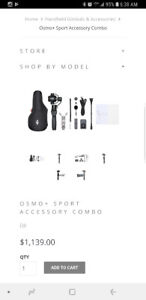 DJI Osmo + with sport pack accessories plus light and hard case.