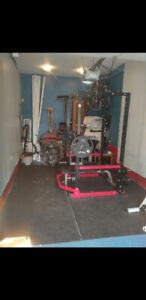 Home Gym Equipment: Squat Rack, Barbell, Weights, Bench etc.