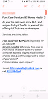 FootCare Services (I come to you)