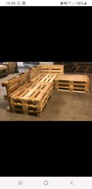 Euro pallet seating area