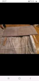 Grey double bed head board