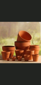 Used Clay flower pots