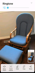 EUC rocking chair with foit rest