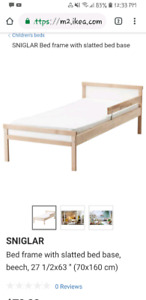 Ikea toddler bed. Pine.