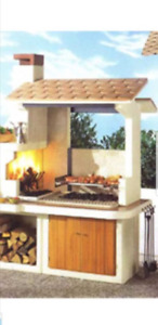 Trinidad Barbecue Oven.  Pizza oven concrete and marble mix