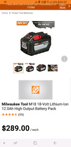 Milwaukee M18 Lithium Ion 12.0Ah High Output Battery Pack
