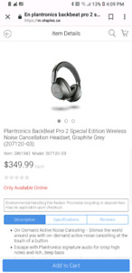 PLT pro 2 wireless Plantronics high end head phones