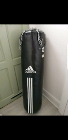 Adidas 4ft leather boxing heavy bag with chair 70
