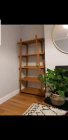 Retro / mid century oak freestanding shelves