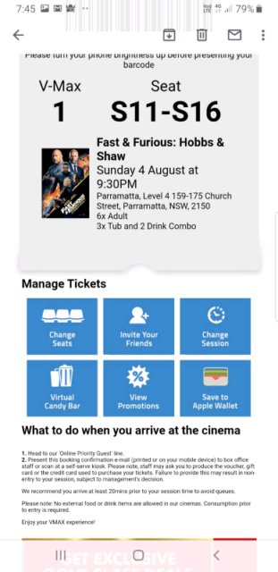 Movies ticket for grab | Theatre/Film | Gumtree Australia