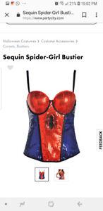 Spider girl corset costume / top