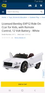 Bentley EXP12  12V Kids Ride On Car Remote Control +