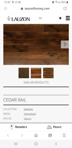 5 inch wide Lauzon Engineered Hardwood Hickory 5/8 835 sq ft