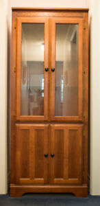 Storage Cabinet with Glass Doors
