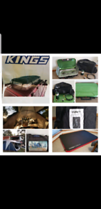 Camping gear, stove, tents, esky