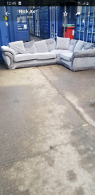 BEAUTIFUL grey corner sofa