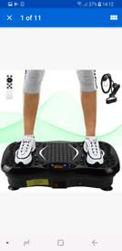 Vibrating workout plate