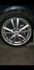 4 X ALLOYS WITH TYRES 18 INCH